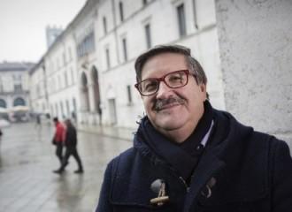 Brescia, 9 gennaio 2016: Ivan Pedretti in piazza della Loggia © Simona Caleo/Cgil