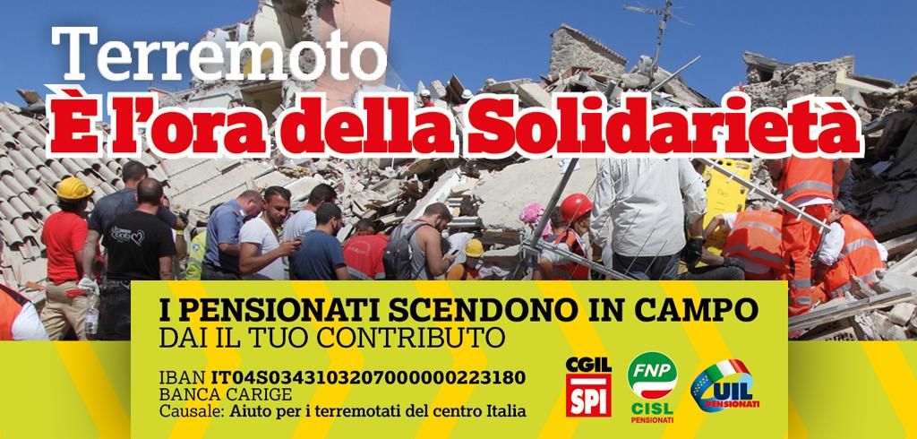 Terremoto - è l'ora della Solidarietà