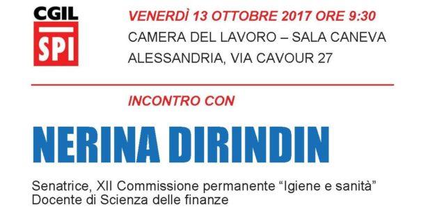 Incontro con Nerina Dirindin – Venerdì 13 ottobre 2017 ore 9,30