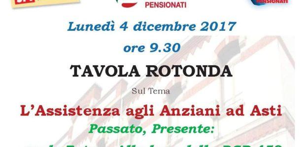 Asti, 04.12.2017 – Tavola rotonda su assistenza anziani