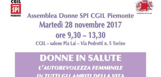 Assemblea Regionale delle Donne SPI CGIL Piemonte 28.11.2017