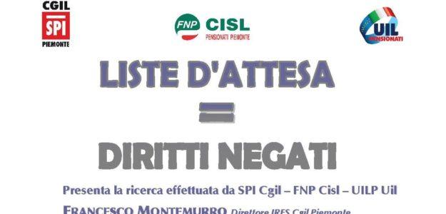 Convegno SPI Cgil – FNP Cisl – UILP Uil sulle liste d'attesa 01.12.2017