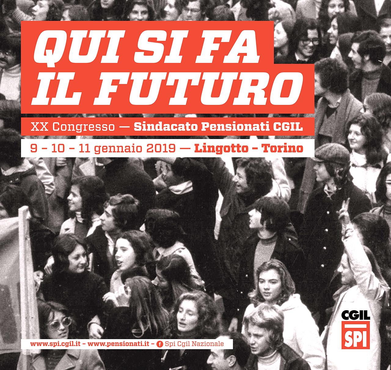 Dal 9 all'11 gennaio 2019 a Torino il Congresso nazionale dello Spi-Cgil