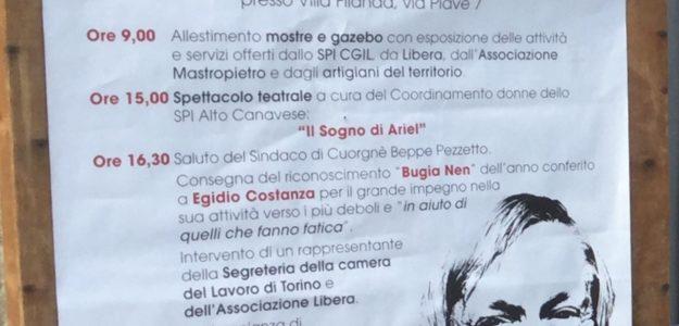 """Seconda festa dello Spi Cgil Lega dell'Alto Canavaese """"SPIrito sempre giovane"""""""