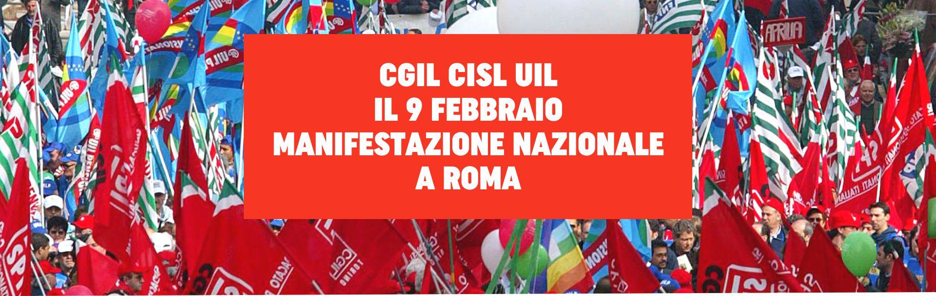 Il segretario generale della Cgil Maurizio Landini lancia la manifestazione del 9 febbraio a Roma