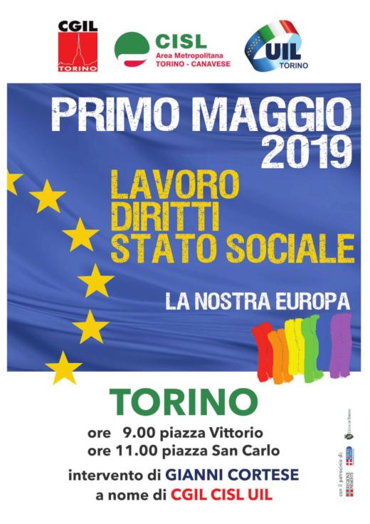 TORINO – PRIMO MAGGIO 2019