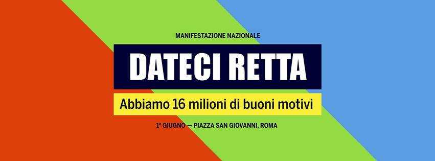 Primo giugno: Manifestazione Nazionale a Roma di SPI CGIL, FNP CISL, UILP UIL  in Piazza San Giovanni
