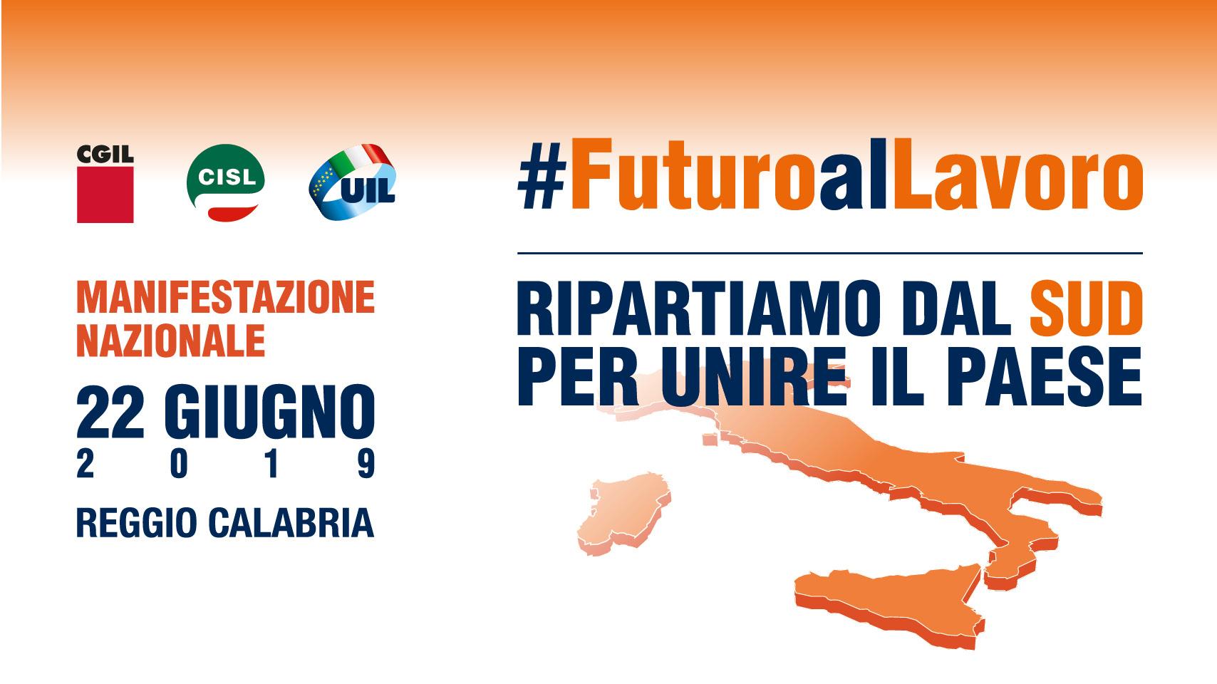 Cgil, Cisl e Uil, prosegue la mobilitazione. Il 22 giugno a Reggio Calabria manifestazione nazionale