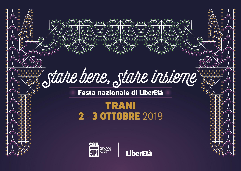Stare bene, stare insieme. Dal 2 al 3 ottobre la Festa nazionale di LiberEtà a Trani.