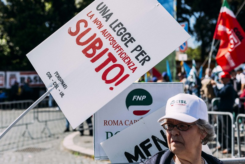 Pnrr, Sindacati pensionati: un primo segnale positivo verso una legge sulla non autosufficienza