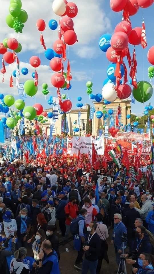 MAI PIU' FASCISMI – Per il Lavoro, La Partecipazione, la Democrazia – Manifestazione CGIL-CISL-UIL Roma 16 ottobre 2021